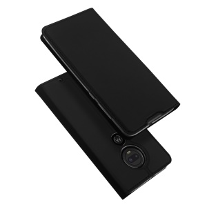 DUX DUCIS Skin Pro Series Stand Leather Flip Case for Motorola Moto G7 / Moto G7 Plus - Black