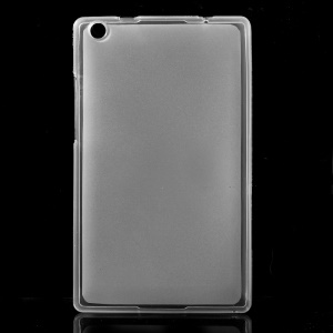 Glossy Outer Matte Inner TPU Gel Case for Lenovo Tab 2 A8-50 - Transparent