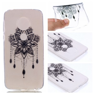 Pattern Printing TPU Case for Motorola Moto G7 Play - Flower Pattern