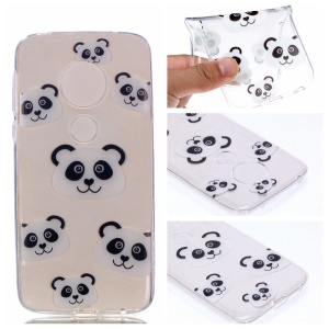 Pattern Printing TPU Case for Motorola Moto G7 Play - Panda Pattern