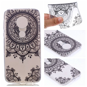 Pattern Printing TPU Case for Motorola Moto G7 Play - Mandala Flowers