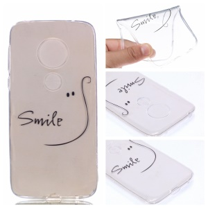 Pattern Printing TPU Case for Motorola Moto G7 Play - SMILE Pattern