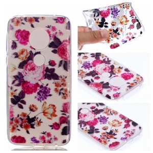 Pattern Printing TPU Case for Motorola Moto G7 Play - Vivid Flowers