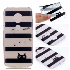 Pattern Printing TPU Case for Motorola Moto G7 Play - Stripes Pattern