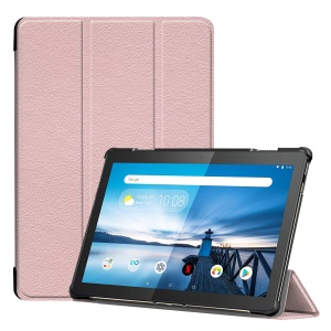 Tri-fold Stand Leather Case for Lenovo Tab M10 TB-X605F TB-X505F - Pink
