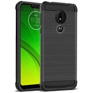 IMAK Vega Carbon Fiber Pattern Brushed TPU Case Shell for Motorola Moto G7 Power (EU Version)