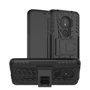 Cool Tyre Kickstand PC + TPU Hybrid Protection Case for Motorola Moto G7 Power (US Version) - Black