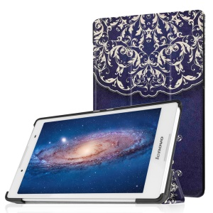 Tri-fold Stand Leather Shell for Lenovo Tab 2 A8-50 - Mandala Pattern