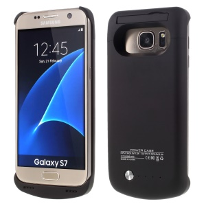 4200mAh External Battery Charger Case for Samsung Galaxy S7 G930 with Kickstand - Black