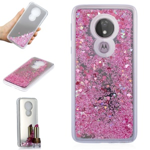 Quicksand Mirror Surface TPU Back Cover for Motorola Moto G7 Power (US Version)/(EU Version) - Pink