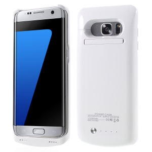 5200mAh External Battery Charger Case for Samsung Galaxy S7 edge G935 with Kickstand - White
