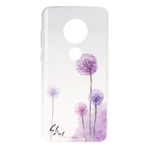 Pattern Printing Soft TPU Back Case for Motorola Moto G7/G7 Plus - Dandelion