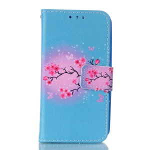 Magnetic Leather Stand Case for Lenovo A319 - Fresh Flowers