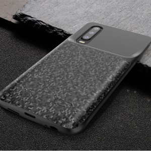 4700mAh Soft Edging Backup Battery Charger Case Cover for Huawei P30 - Black