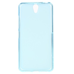 Double-sided Frosted TPU Cover Case for Lenovo Vibe S1 - Blue