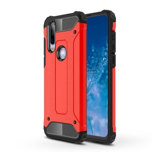 Armor Guard Plastic + TPU Hybrid Case for Motorola One Action / P40 Power - Red