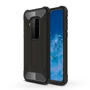 Armor Guard Plastic + TPU Hybrid Case for Motorola P40 Note - Black