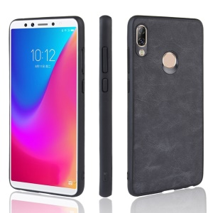 PU Leather Coated TPU + PC Back Phone Shell for Lenovo K5 Pro - Dark Grey
