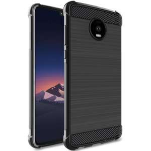IMAK Vega Air Bag Carbon Fiber Brushed TPU Phone Case for Motorola Moto Z4