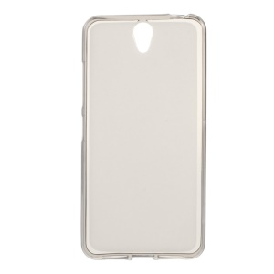 Double-sided Matte TPU Back Case for Lenovo Vibe S1 - Grey