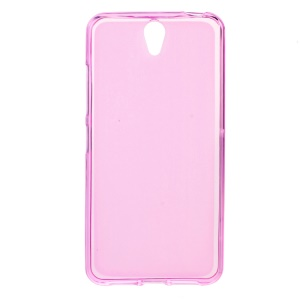 Double-sided Matte TPU Phone Case for Lenovo Vibe S1 - Pink