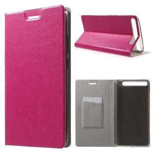 Textured Card Holder Leather Stand Cover for Lenovo Phab Plus - Rose