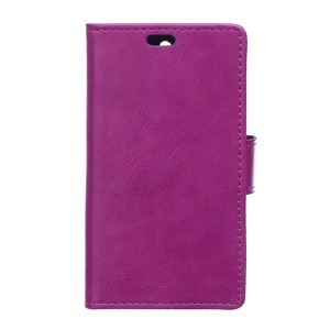 Crazy Horse Texture Leather Wallet Stand Cover for Lenovo Vibe K5/K5 Plus - Purple