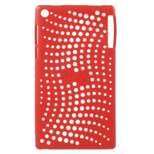 Hollow TPU Back Cover for Lenovo Tab 2 A7-30 - Red