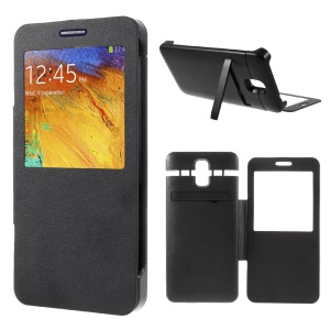 4200mAh Leather Battery Case with Window View for Samsung Galaxy Note 3