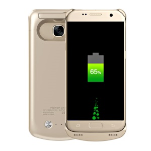 4200mAh Kickstand Battery Charger Cover for Samsung Galaxy S7 G930 - Gold