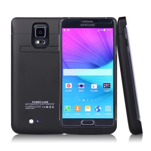 4800mAh External Battery Charger Case for Samsung Galaxy Note 4 N910 - Black