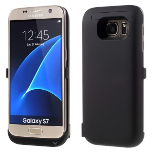 6500mAh External Battery Charger Case for Samsung Galaxy S7 G930 - Black