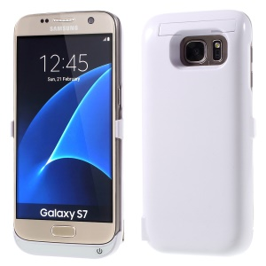 6500mAh External Battery Charger Case for Samsung Galaxy S7 G930 - White