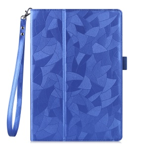 Maple Leaf Texture Tablet Leather Cover for Lenovo Tab 2 X30 A10-30F with Handy Strap - Blue