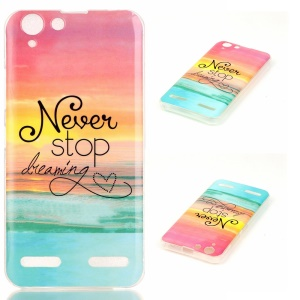 Soft IMD TPU Cover Case for Lenovo Vibe K5 Plus / Vibe K5 - Quote Never Stop Dreaming