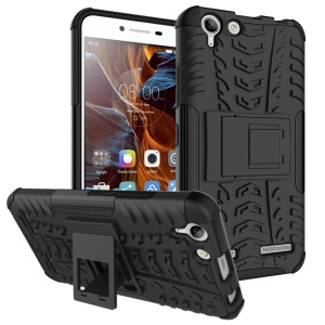 Solid PC + TPU Hybrid Case with Kickstand for Lenovo Vibe K5 Plus / Vibe K5 - Black