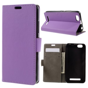 Flip Leather Case with Card Slots for Lenovo Vibe C A2020 - Purple