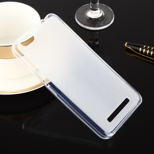 Dual-sided Matte Gel TPU Case for Lenovo Vibe C A2020 - Transparent
