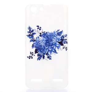 Soft IMD TPU Case Cover for Lenovo Vibe K5 Plus / Vibe K5 - Blue Flowers