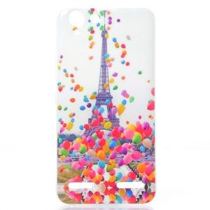 Soft IMD TPU Shell Cover for Lenovo Vibe K5 Plus / Vibe K5 - Eiffel Tower and Colorized Balloon