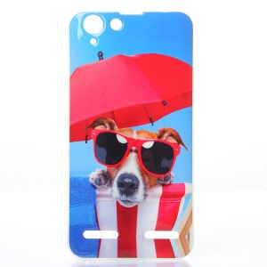 Soft IMD TPU Case for Lenovo Vibe K5 Plus / Vibe K5 - Cool Dog Wearing Glasses