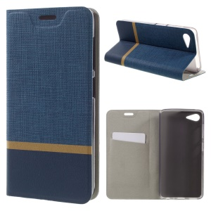 Assorted Color Lines Leather Phone Shell for Lenovo ZUK Z2 - Dark Blue