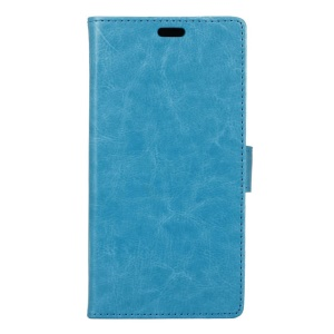 Crazy Horse Leather Magnetic Flip Cover for Lenovo Vibe C A2020 - Blue