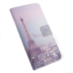 Leather Stand Flip Shell for Lenovo Vibe C A2020 - Eiffel Tower