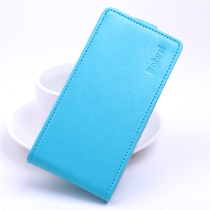 Crazy Horse Vertical Leather Magnetic Cover for Lenovo Vibe C A2020 - Blue