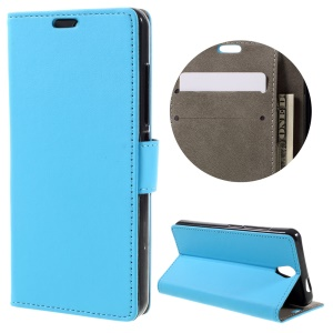 PU Leather Wallet Stand Cover Case for Lenovo Vibe S1 Lite - Blue
