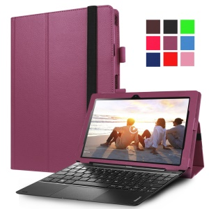 Litchi Grain Stand Leather Protective Cover for Lenovo Ideapad Miix 310 - Purple
