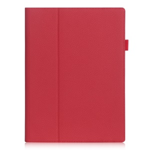 Card Holder Flip Leather Stand Shell for Lenovo Ideapad Miix 700/Miix 4 - Red
