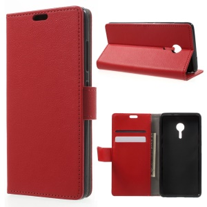 Wallet Leather Phone Case for Lenovo ZUK Z2 Pro - Red
