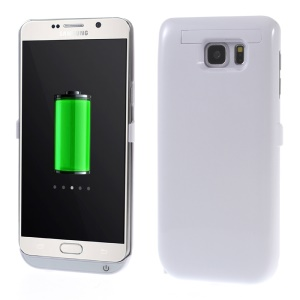 5800mah Backup External Battery Charger Cover for Samsung Galaxy Note5 SM-N920 with Kickstand - White